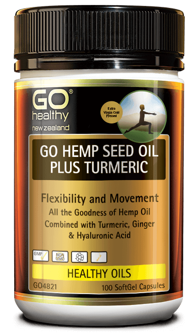 GO Healthy Hemp Seed Oil Plus Turmeric 100s